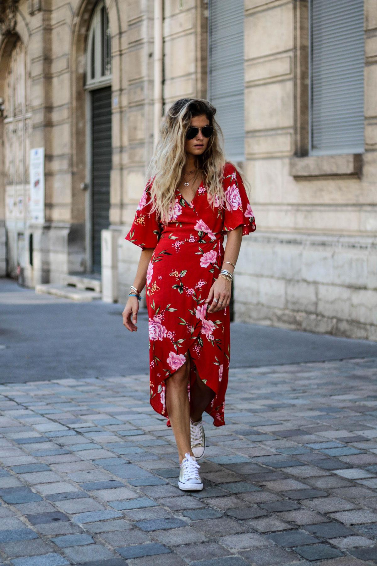 Robe portefeuille à fleurs - MarieandMood - Blog mode 9d5cf788b99c