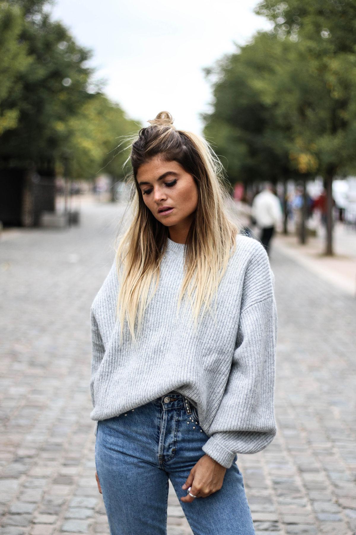 Loose sweater & Denim