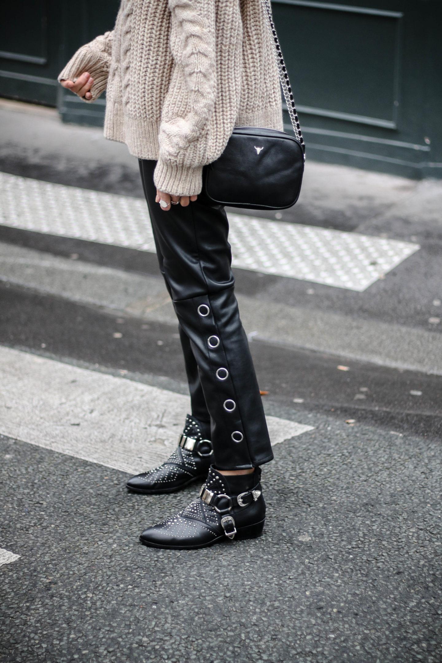 pantalon simili cuir H&M