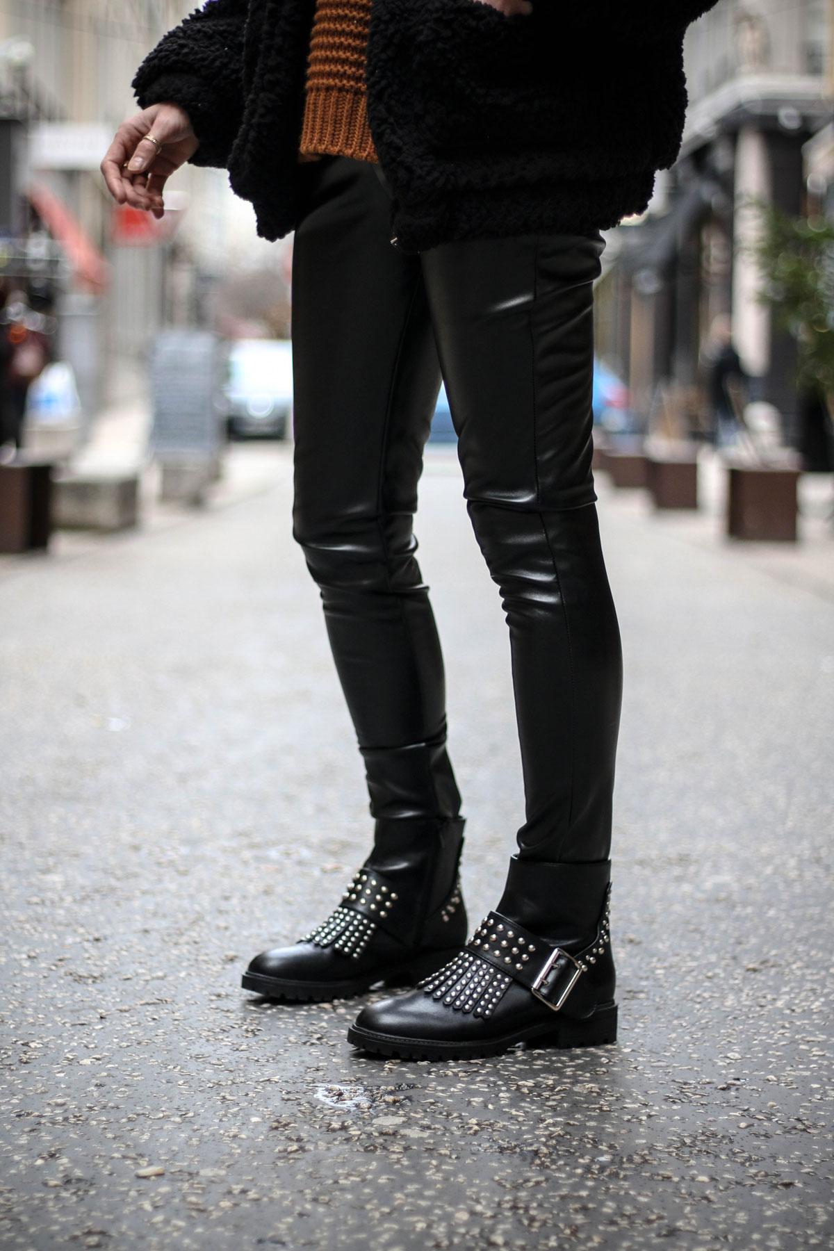 Pantalon simili cuir marie and mood