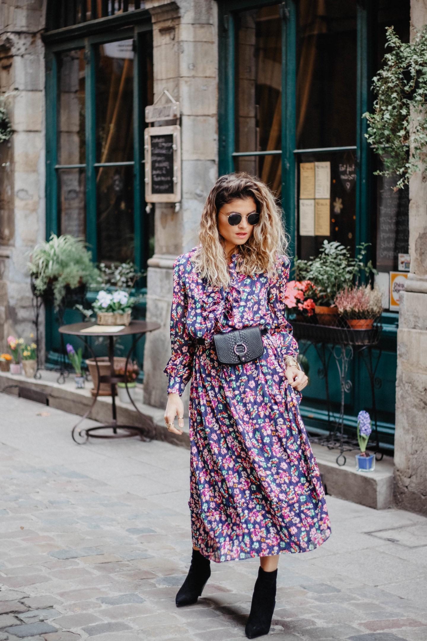 robe imprimé fleurie marie and mood blog