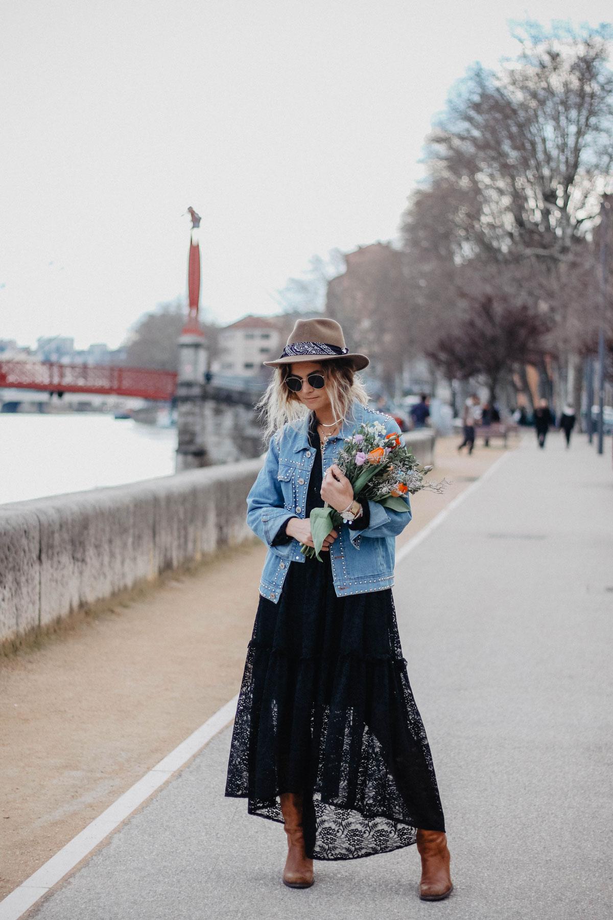 Veste à clous marie and mood blog mode