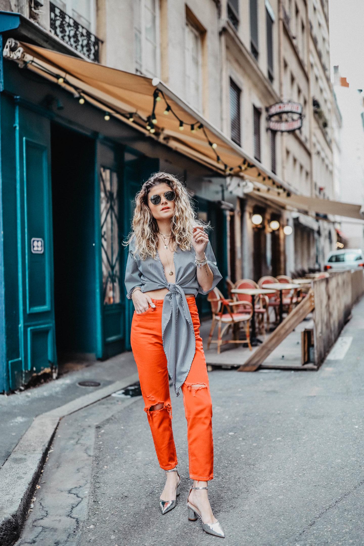 pantalon rouge bershka marie and mood