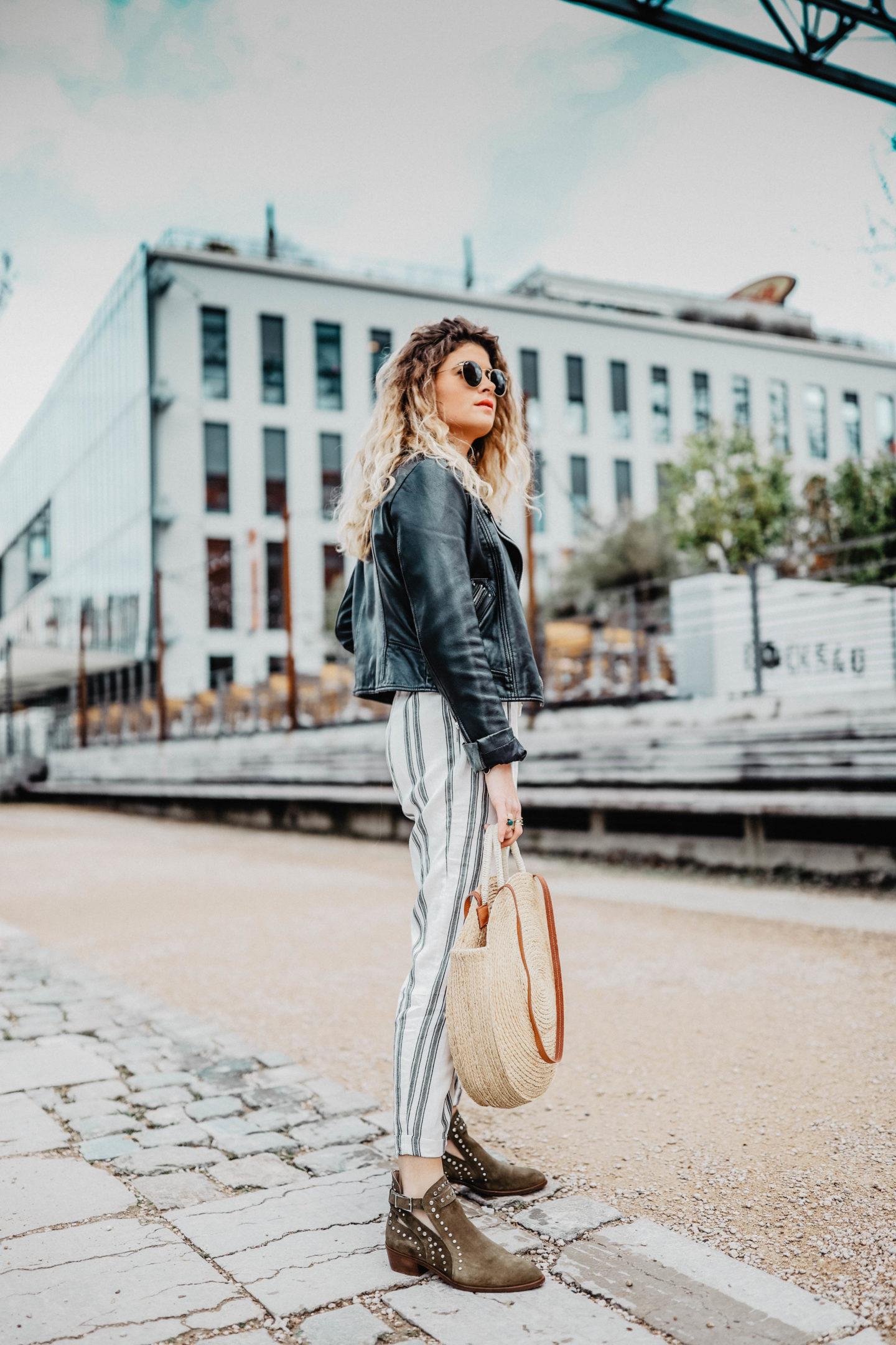 Pantalon taille haute Bershka marie and mood blogueuse mode