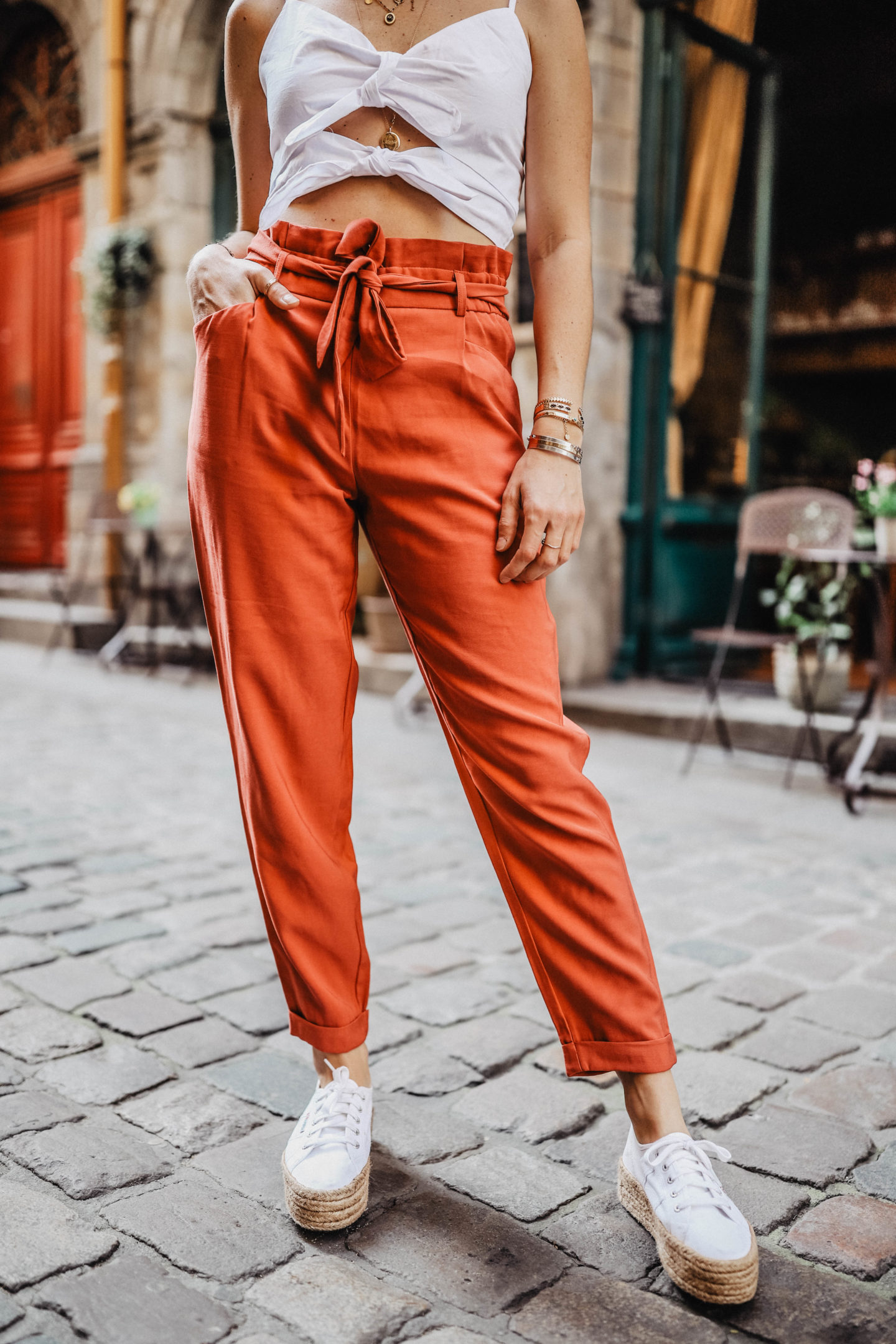Tendance pantalon carotte Zara marie and mood
