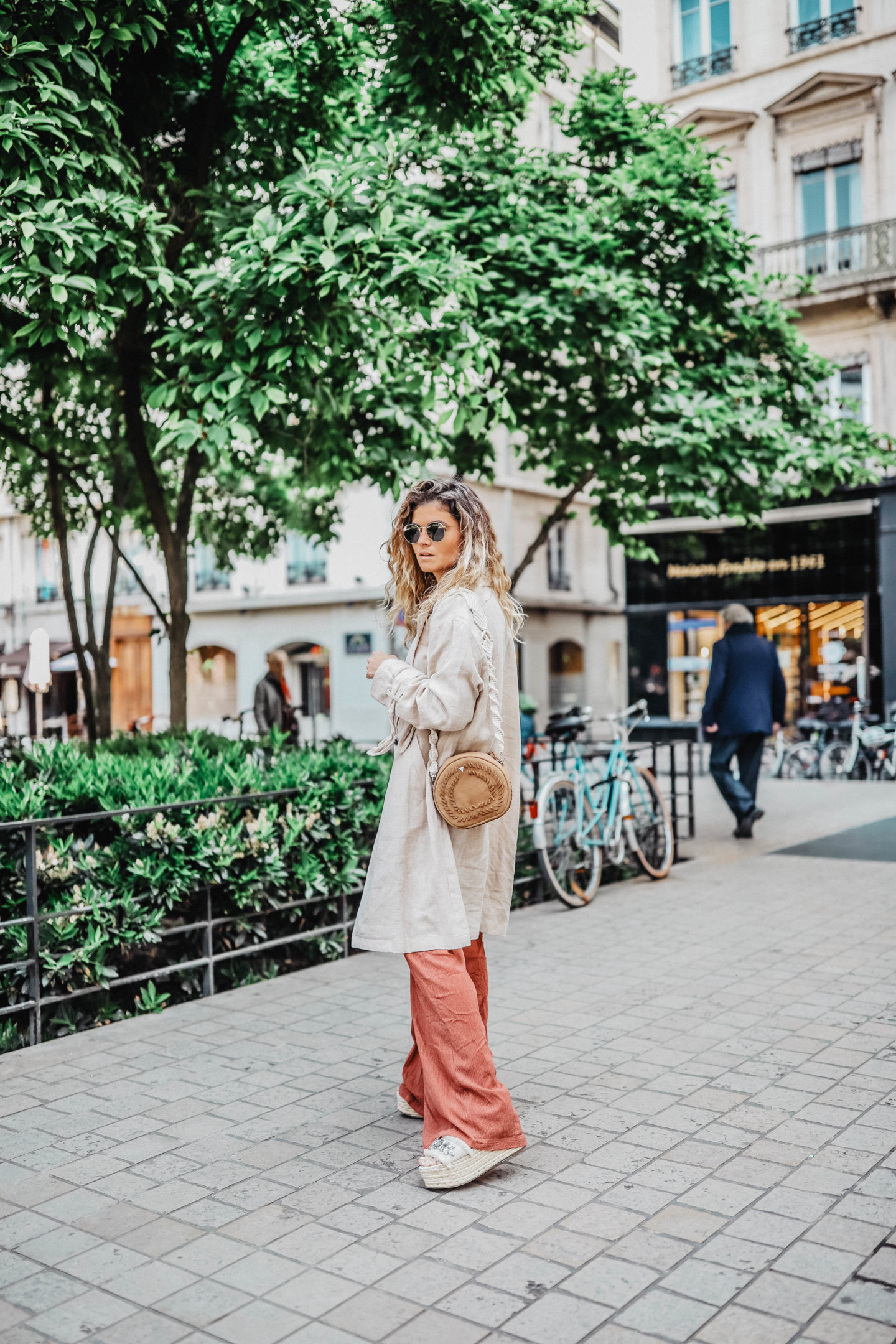 Trench en lin pull&bear marie and mood
