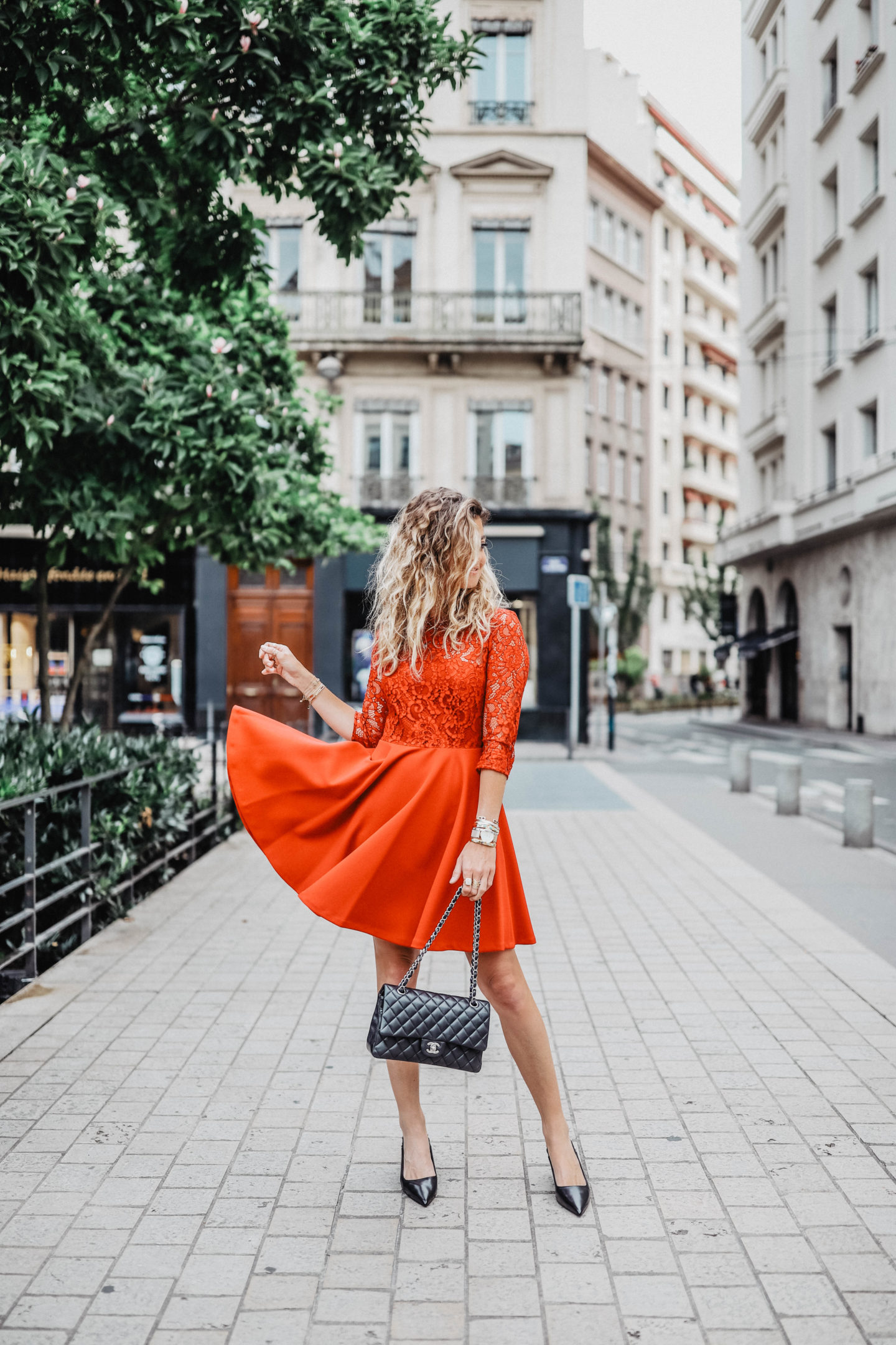 robe rouge claudie pierlot marie and mood