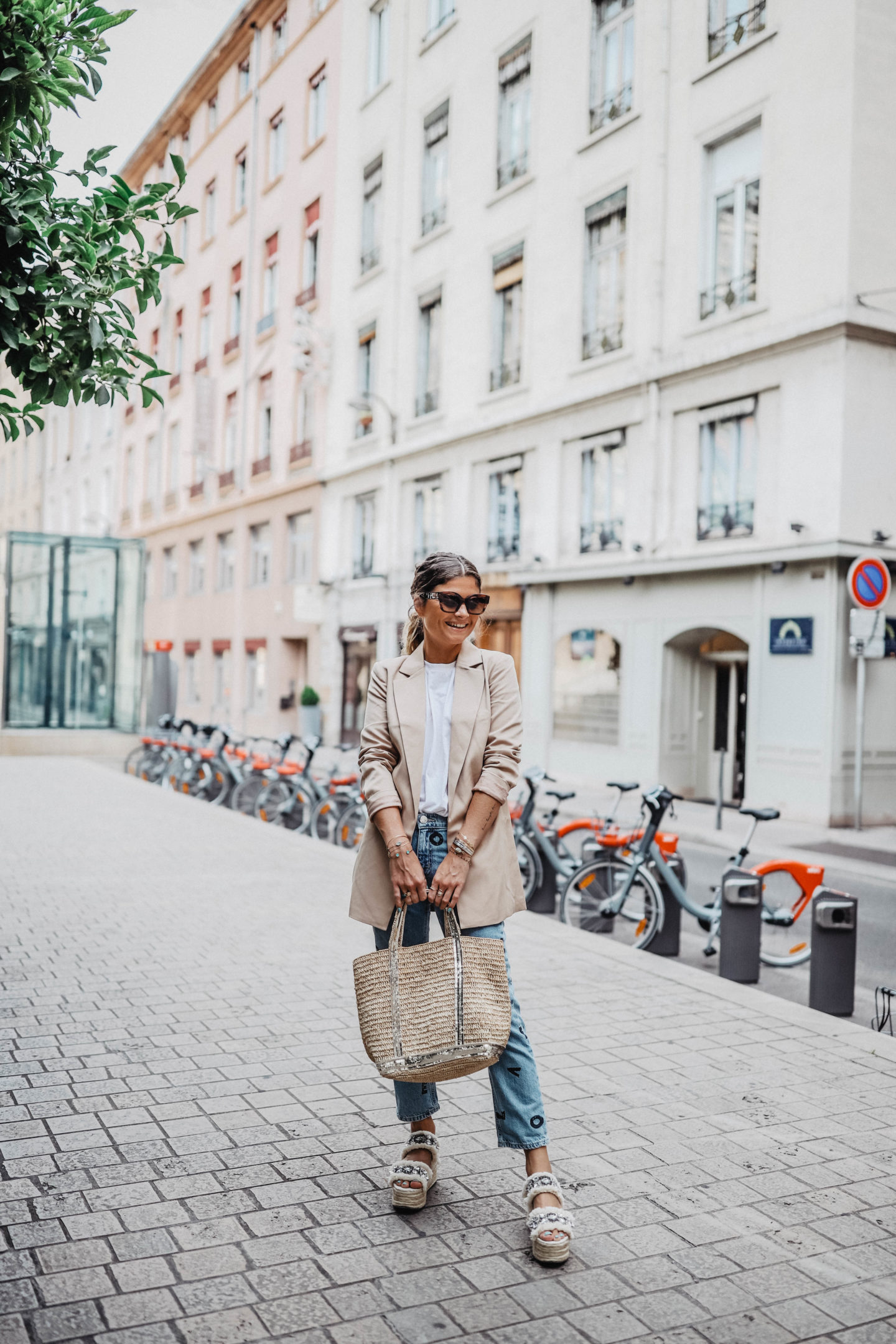 Sac raphia Vanessa Bruno marieandmood blog mode
