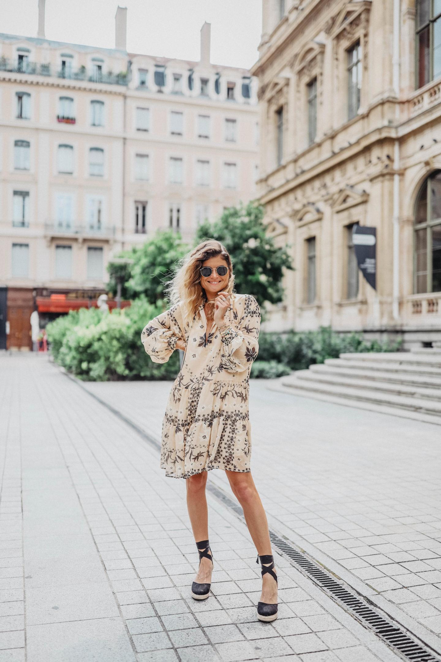 Robe bohème H&M été marieandmood blog