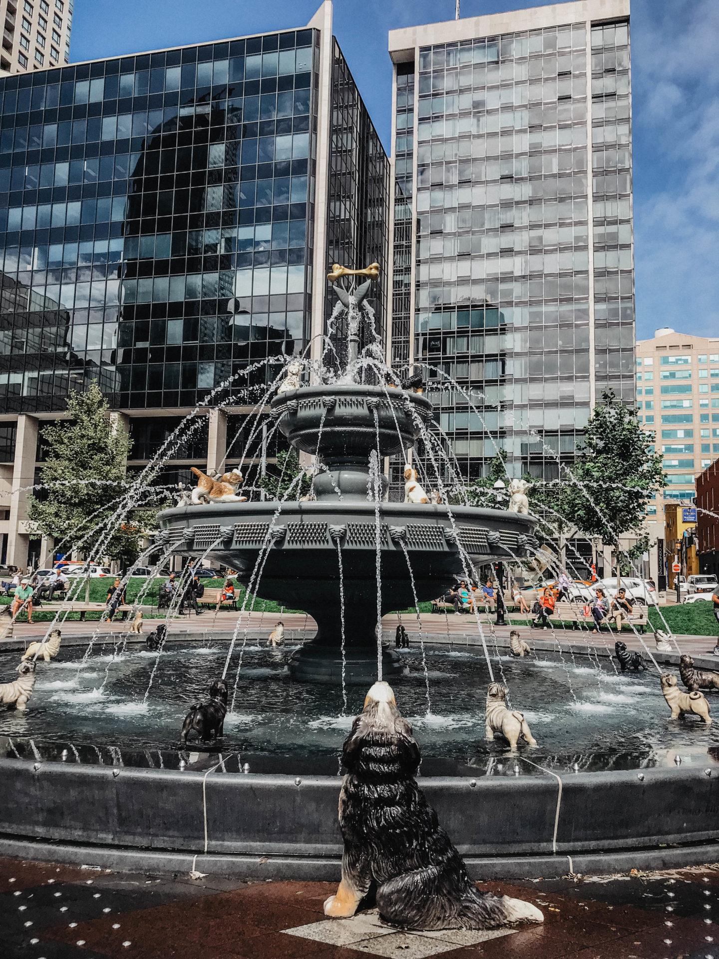 Berczy Park fontaine chiens Toronto