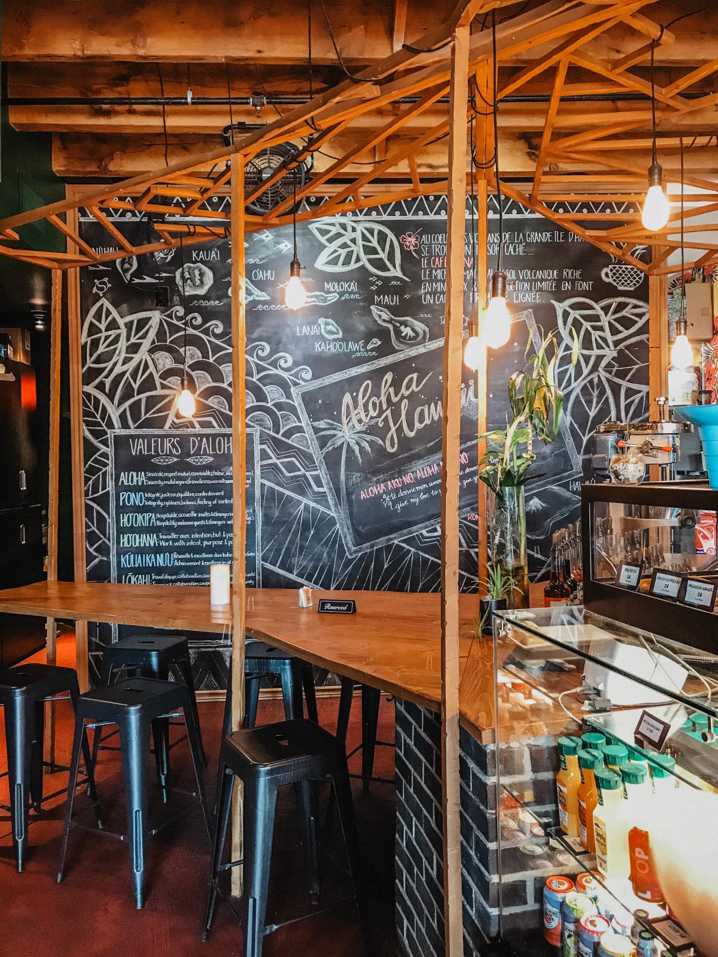 Aloha espresso bar Vieux Port Montréal marie and mood