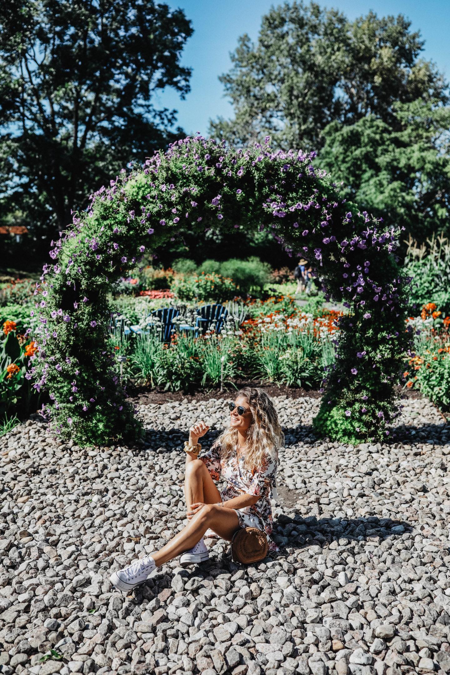 Jardin botanique jardin de fleurs Montréal marie and mood