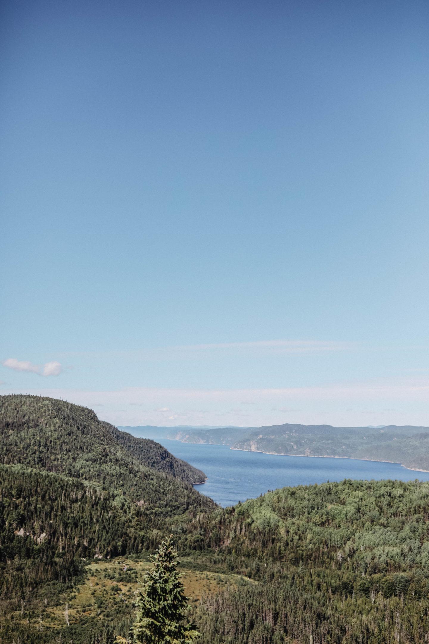 Vue Fjord du Sageunay Canada