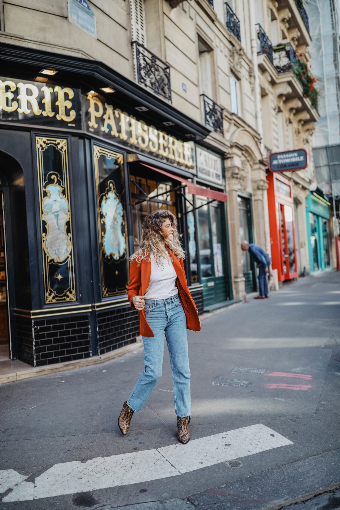 Jeans coupe droite marie and mood blog