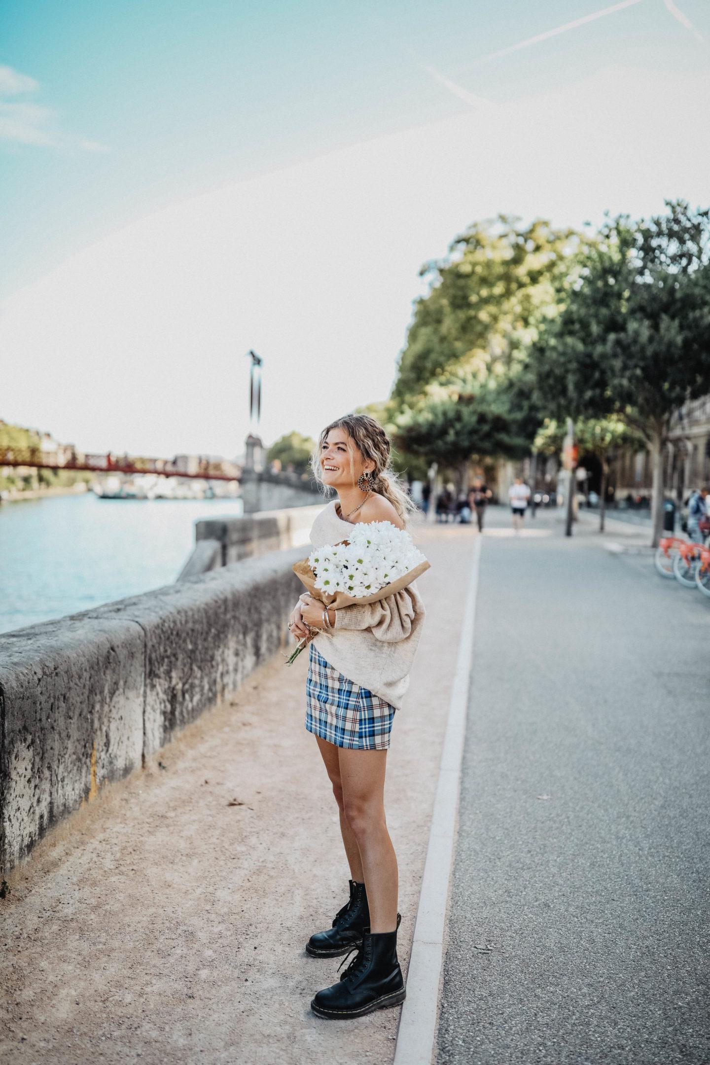 Pull et jupe combinaison pour l'automne marie and mood blog