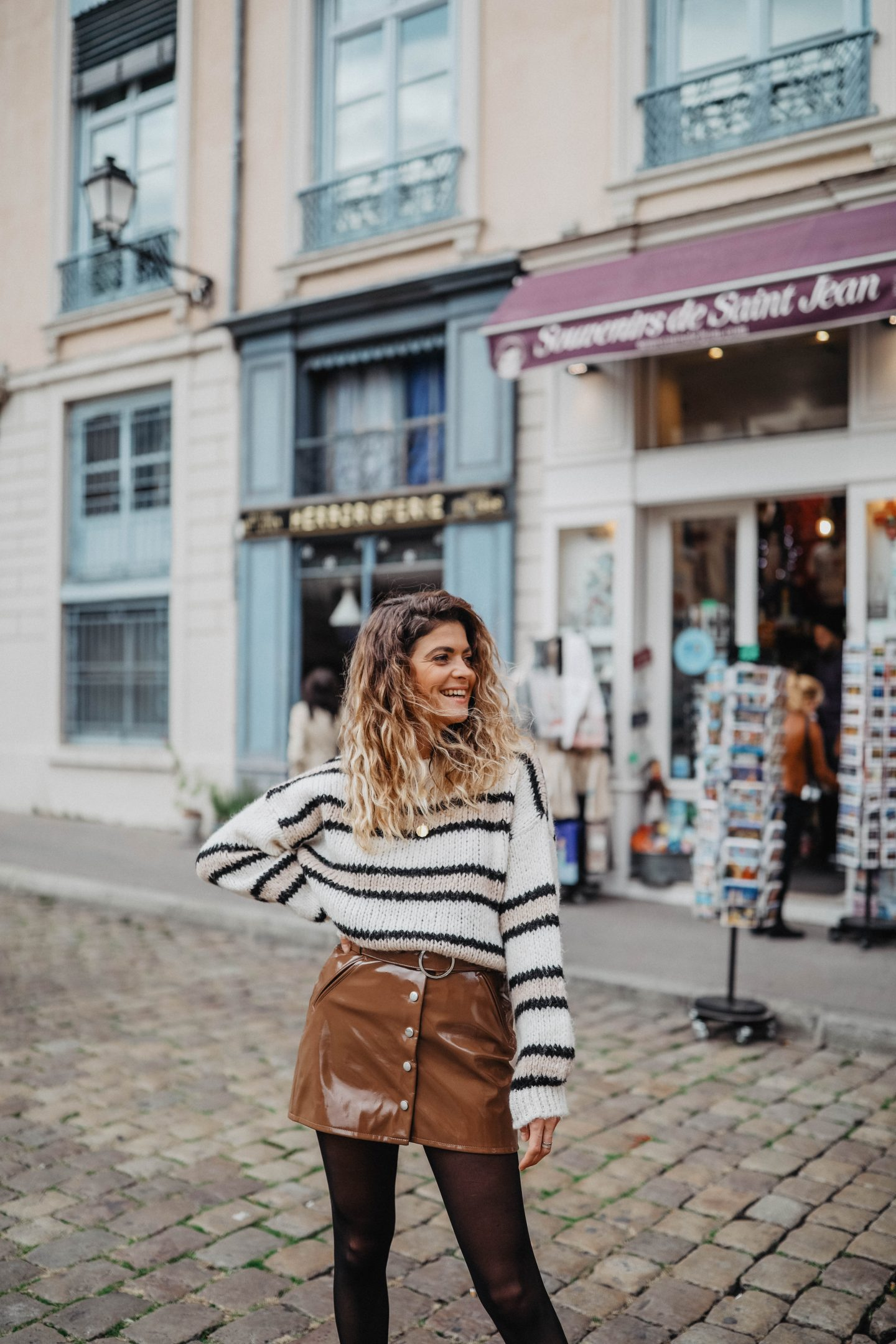 Pull en maille Bershka marie and mood blog mode