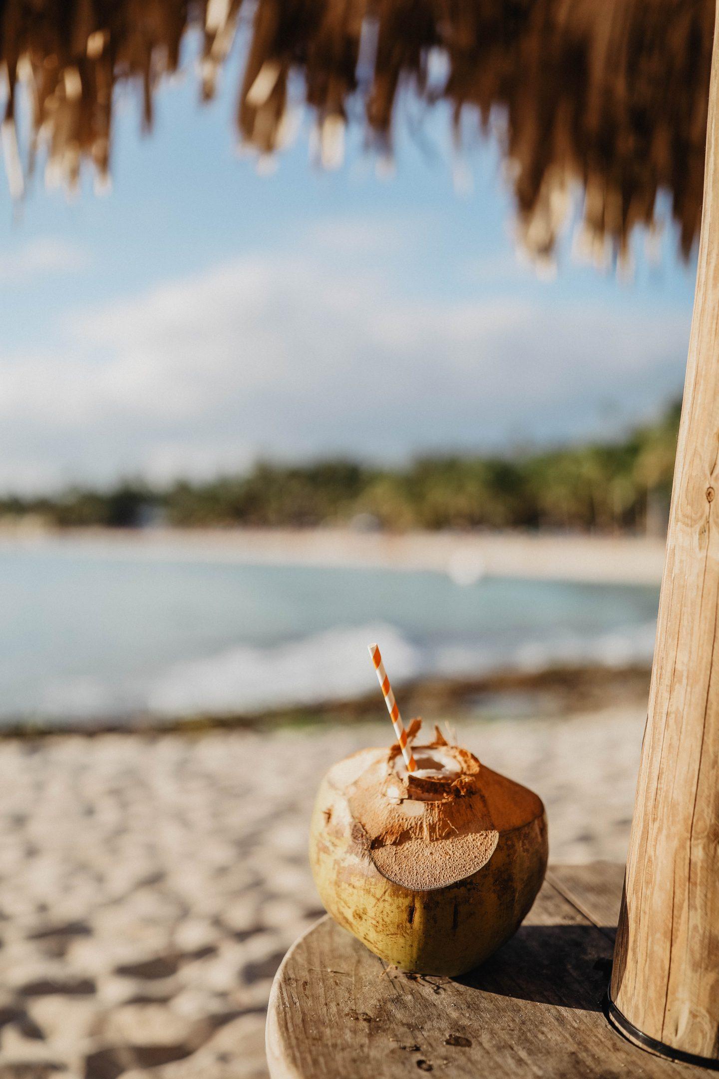 Noix de coco fraiche République Dominicaine marie and mood blog