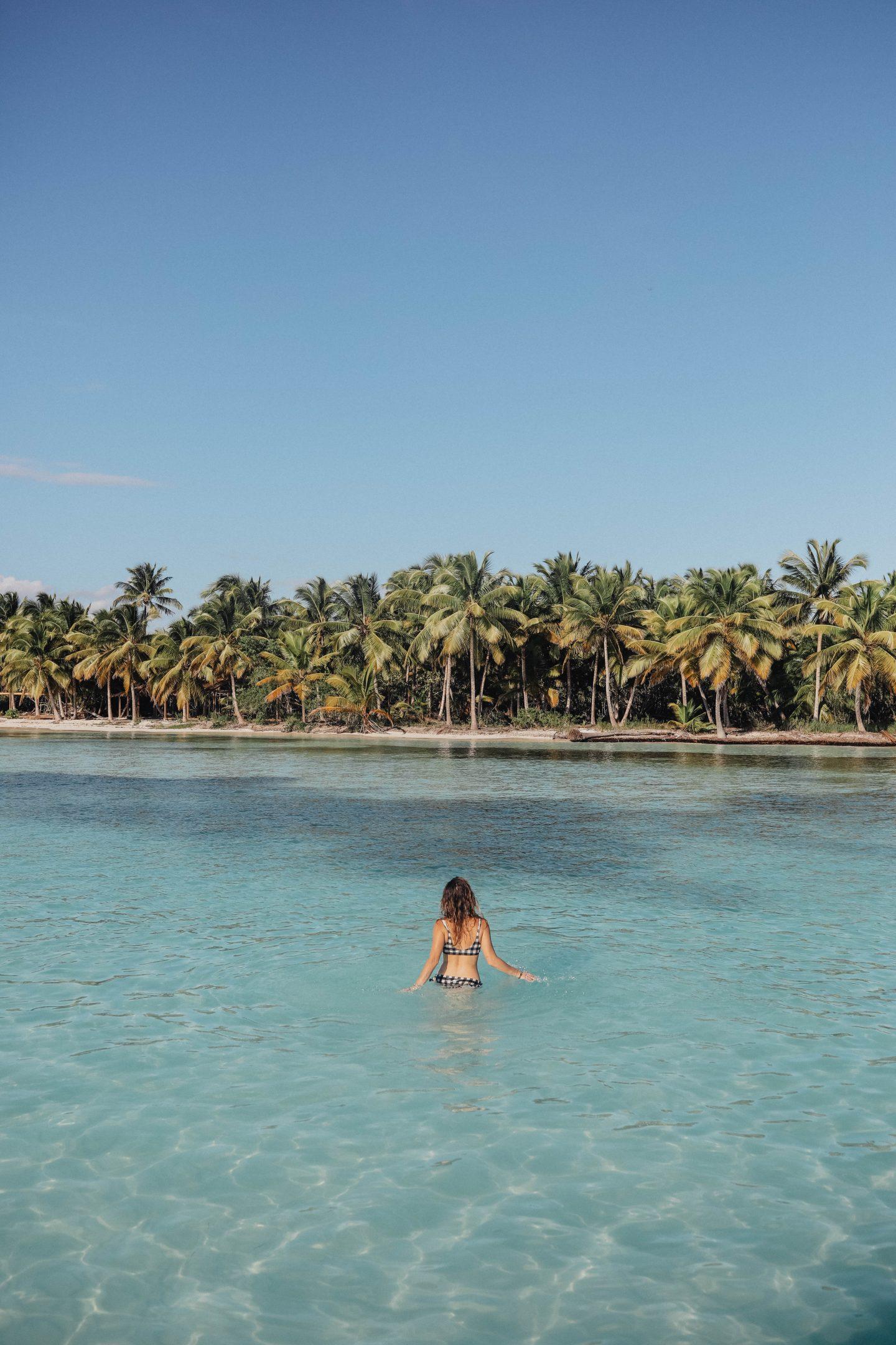 Piscine naturelle Île de Saona voyage en république dominicaine