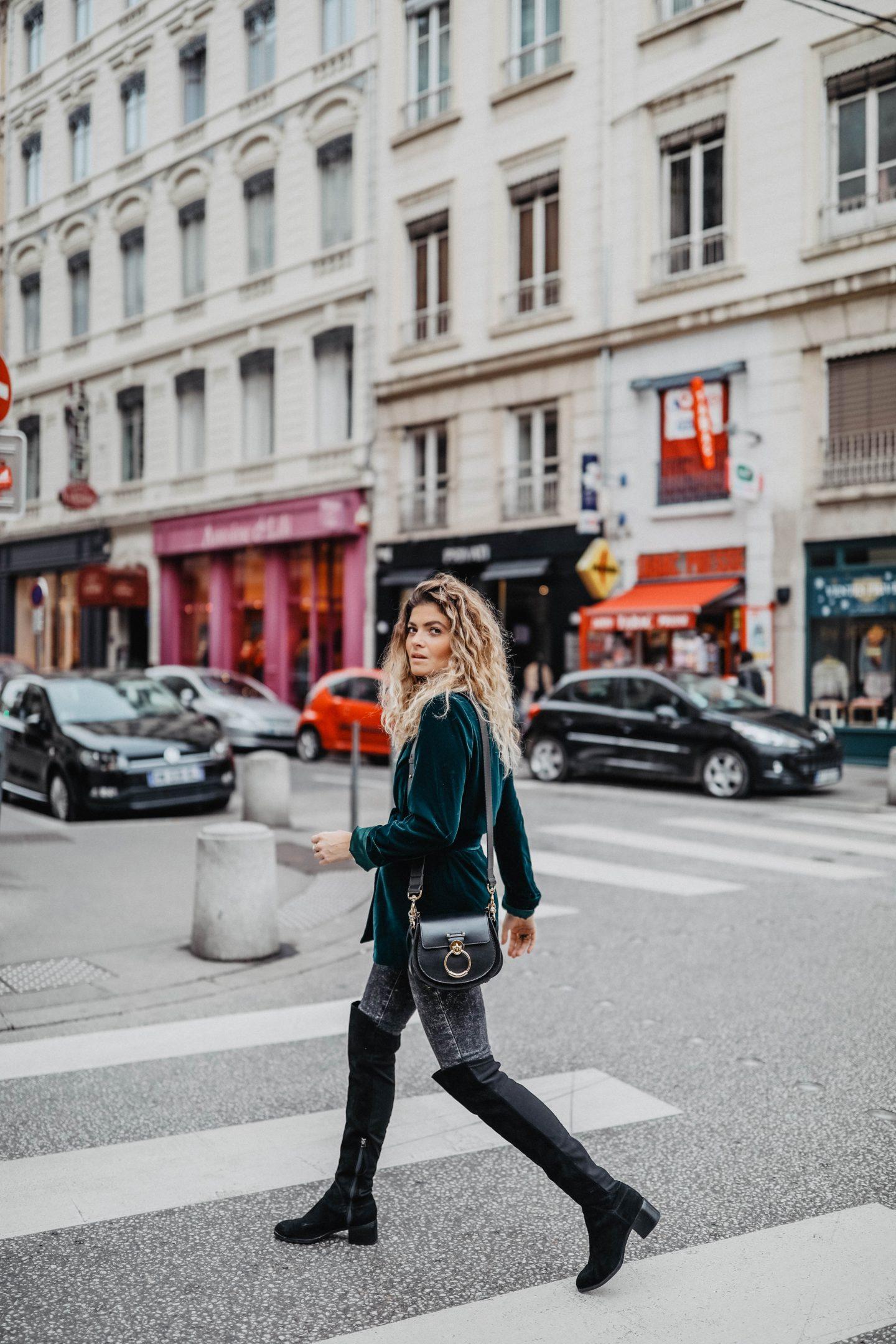 Tenue pour l'automne tendance velours marie and mood blog