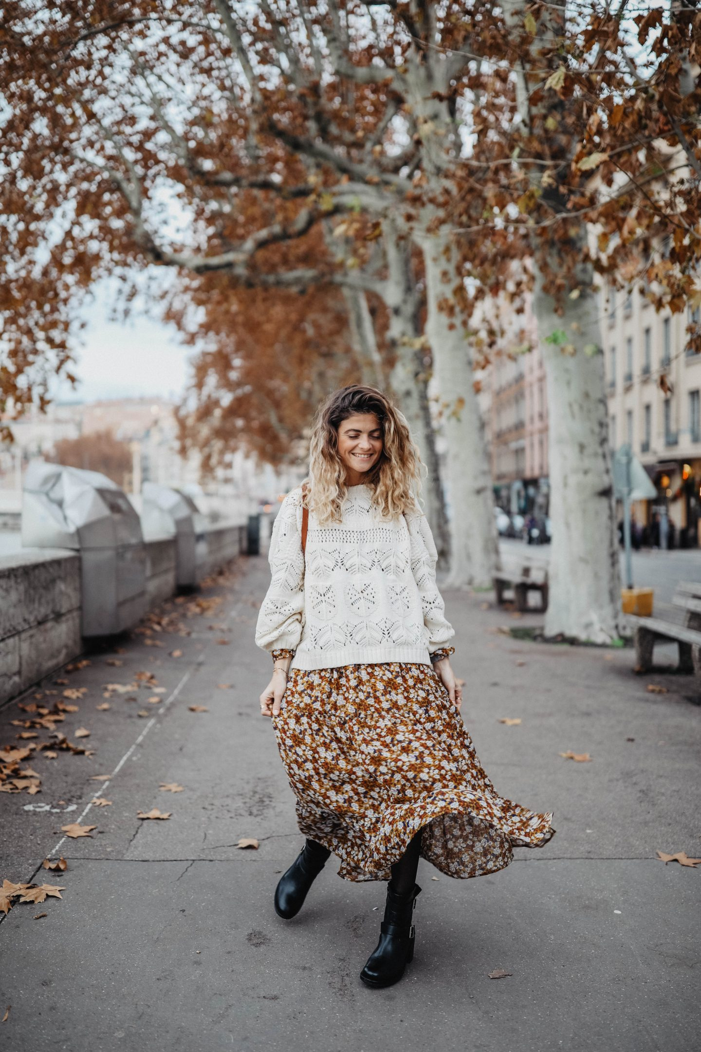 Robe imprimé fleuris marie and mood blog