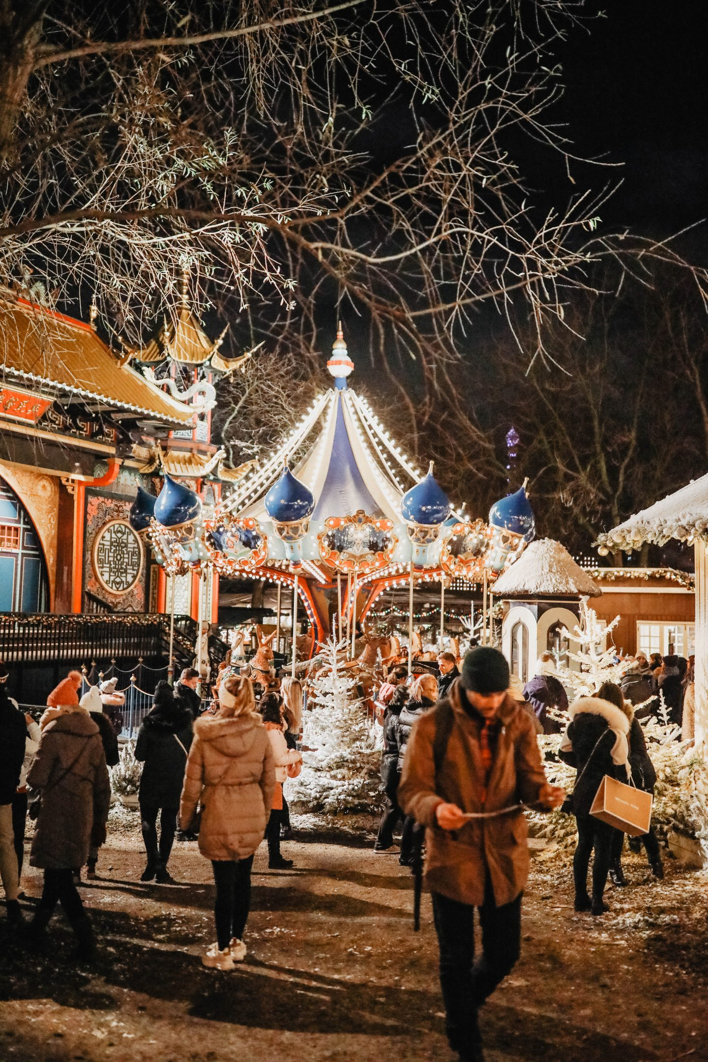 Tivoli période de Noël Copenhague