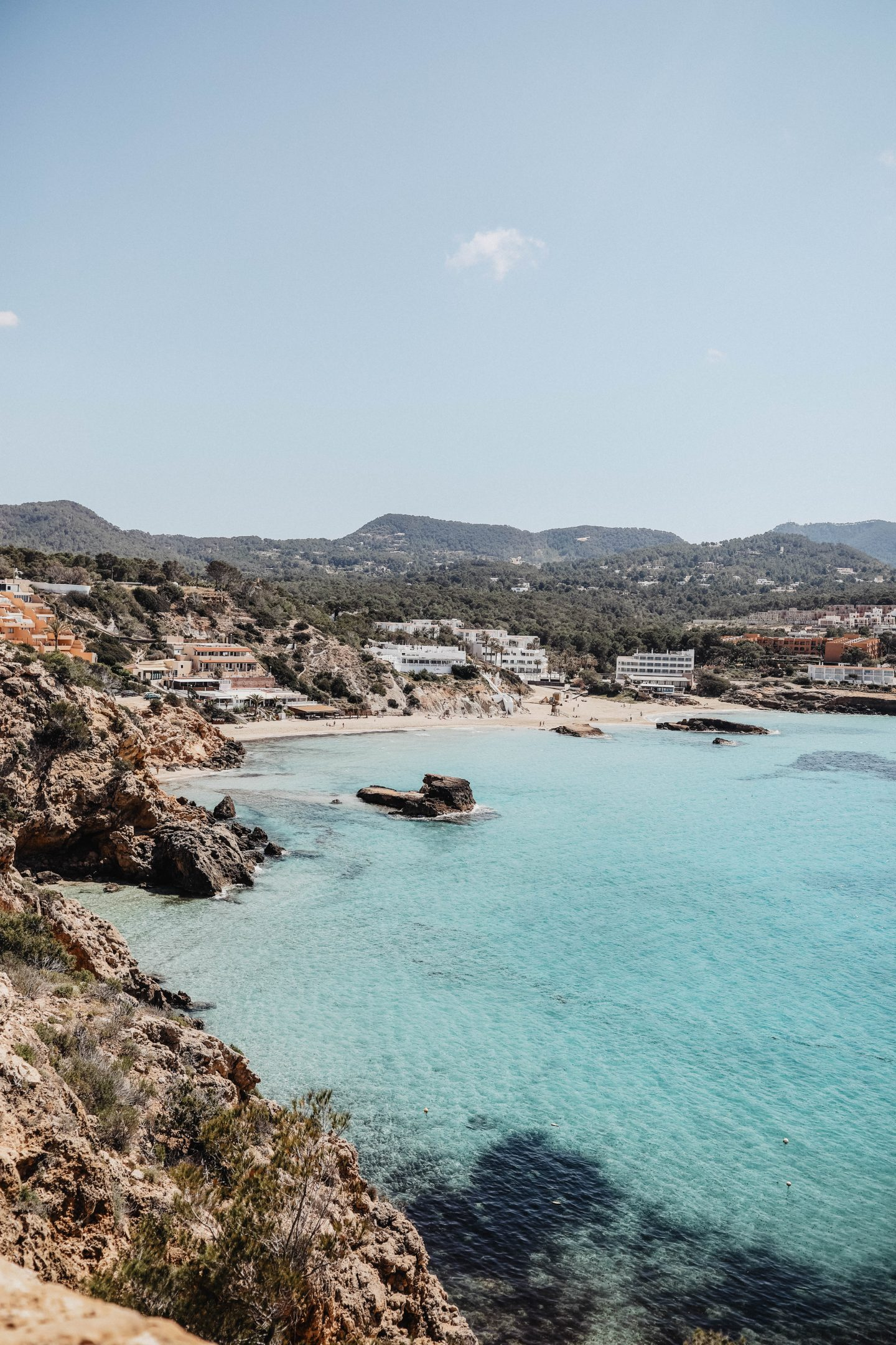 Cala Tarida Ibiza voyage marie and mood blog