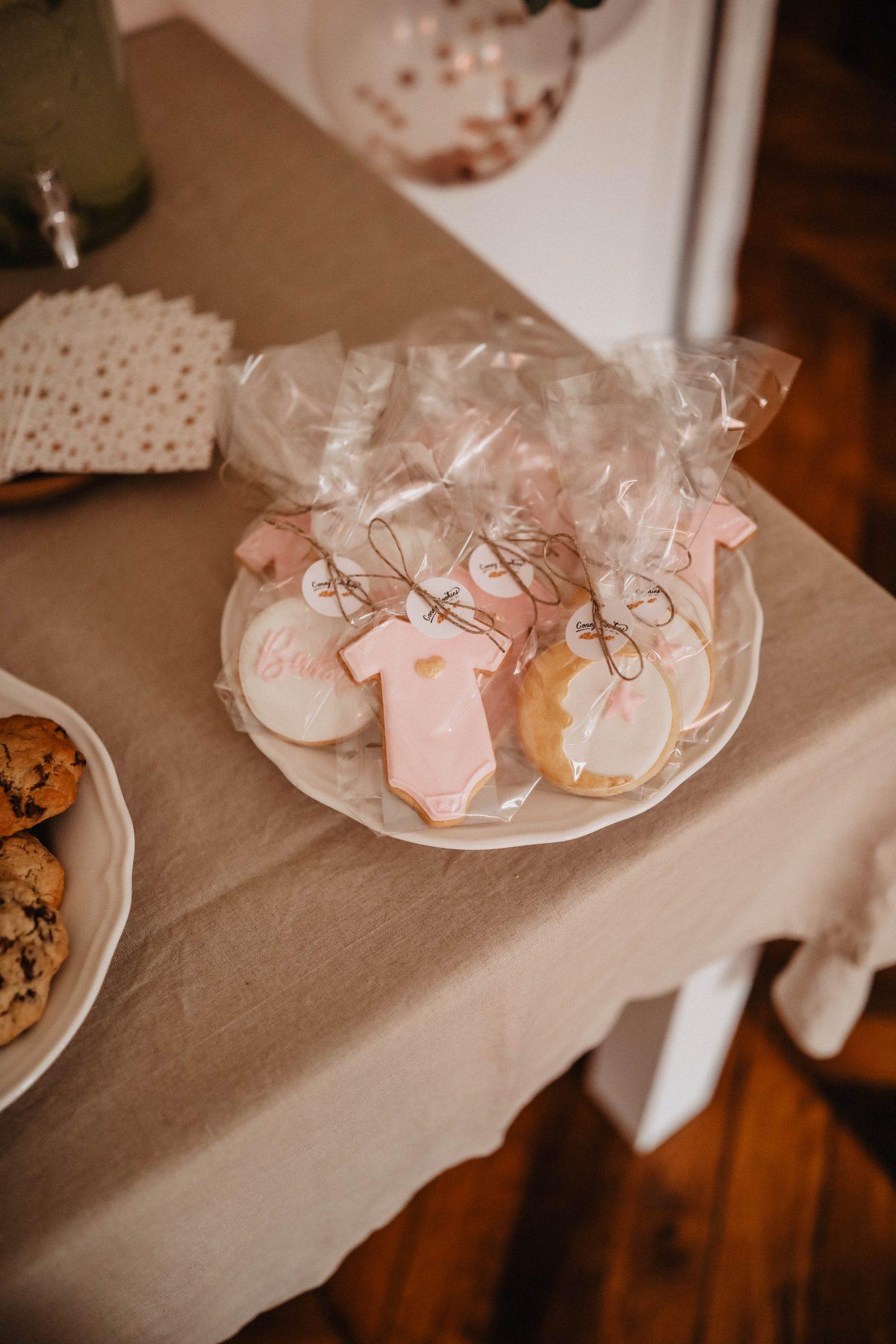 Sablés coney cookies baby shower